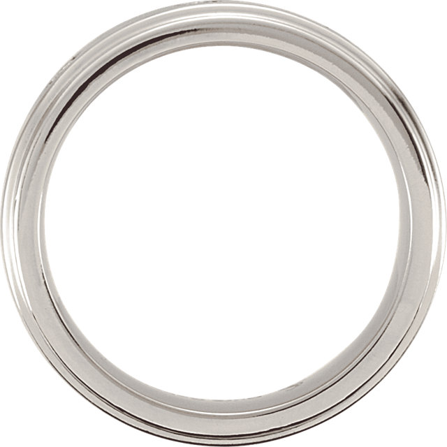 Cobalt 8mm .10 CTW Diamond Satin Finish Ridged Band Size 12