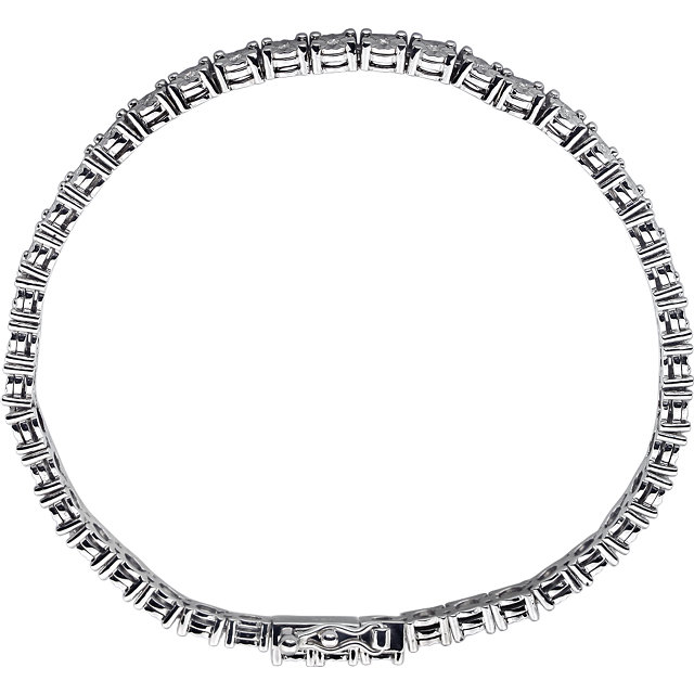 Sterling Silver 1/4 CTW Diamond Line 7