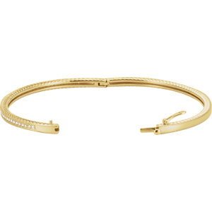 14K Yellow 1/3 CTW Diamond Bangle Bracelet