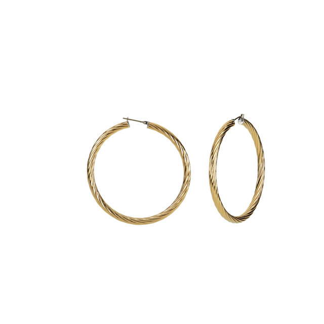Immerse Plated Amalfi™ Stainless Steel Twisted Hoop Earrings