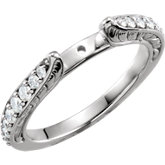 Sculptural Engagement Ring or Matching Eternity Band