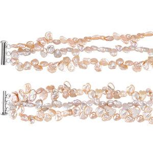 Freshwater Keshi Cultured Pearl Bracelet or Necklace