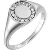 Ladies Diamond Signet Ring