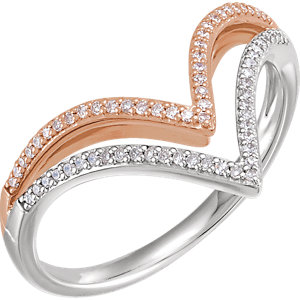 Chevron rings - Diamonds Inc