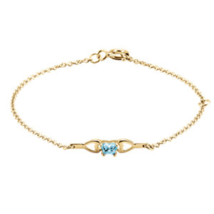 1 kt Yellow March<br> Birthstone Bracelet