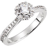 Nine-Stone Cluster Engagement Ring or Band