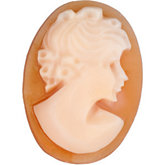 Oval Genuine Shell Traditional Lady Cameo