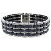 Ceramic Couture™ & Stainless Steel Link Bracelet