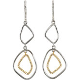 Open Silhouette Dangle Earrings