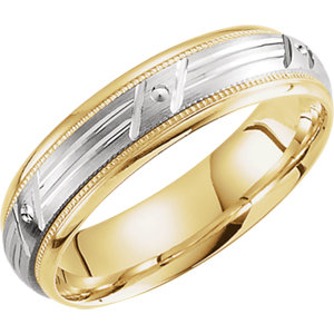 Two-Tone 6mm Patterned Band