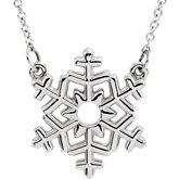 Snowflake Center or Necklace