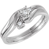 Diamond Illusion Engagement Ring or Matching Enhancer