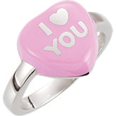 Sweethearts® Enamel Heart Shaped Ring