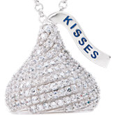 HERSHEY'S KISSES 3D Cubic Zirconia Necklace