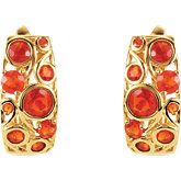 Genuine Mexican Fire Opal Earrings