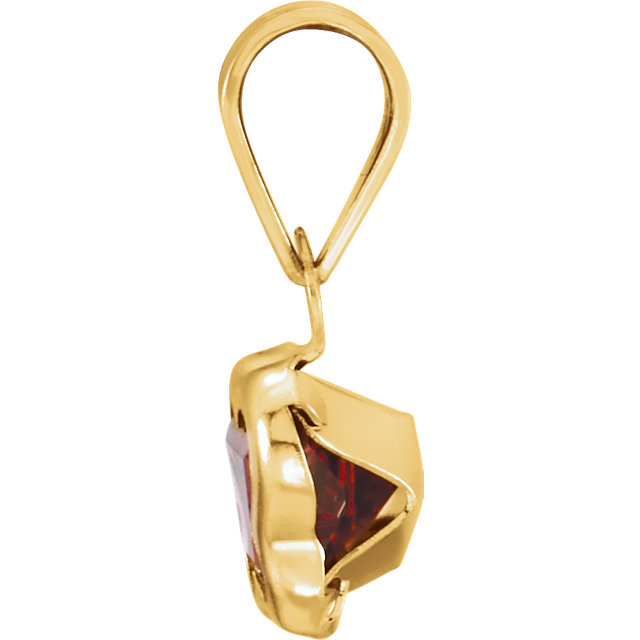 14K Yellow January CZ Birthstone Pendant
