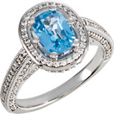 Cushion Shape Engagement Ring Mounting