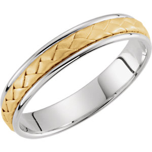 Two-Tone 4mm Hand-Woven Band