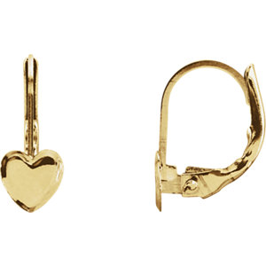 Youth Heart Shape Lever Back Earrings