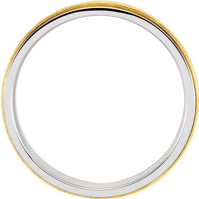 Sterling Silver & 10K Yellow 5mm Precious Bond Design Band Size 7