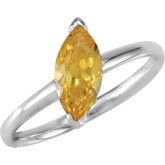 Stackable Citrine Colored CZ Ring