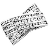 1 3/4 CTW Diamond Overlap Design Anniversary Band