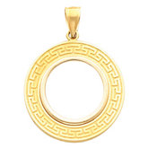 Tab Back Greek Key Frame Pendant for U.S. $2.50 or 1/10 Ounce Chinese Panda Coin