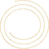 Bead Chain Diamond Cut 1mm