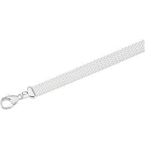 Solid Flat Mesh Bracelet 8mm