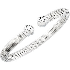 Hollow Mesh Cuff Bracelet 6.5mm