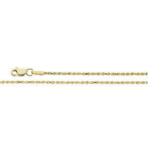 Diamond-Cut Rope Chain 1.5mm