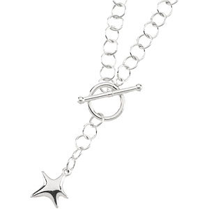 Toggle Necklace with Star Dangle