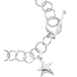 Link Bracelet with Star