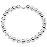 Sterling Silver Bead Chain 16mm