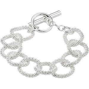 Sterling Silver Mesh Link Bracelet or Necklace 21mm