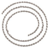Diamond Cut Rope Chain, 2.4mm