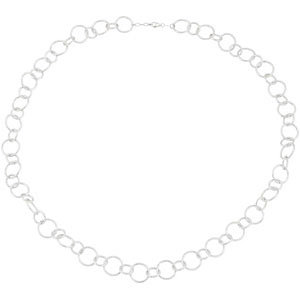 Sterling Silver Diamond-Cut Circle Link Chain