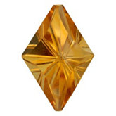 Lozenge Fantasy Genuine Citrine