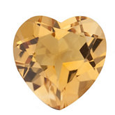 Heart Genuine Citrine