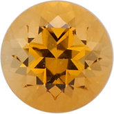Genuine Citrine - Round Faceted-Machine Cut Swarovski Gems Golden; Fine Quality
