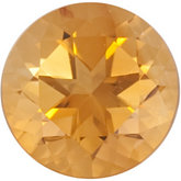Genuine Citrine - Round Faceted-Machine Cut Swarovski Gems Saffron; Fine Quality