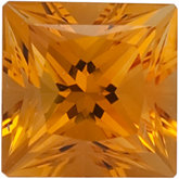Square SWAROVSKI GEMSTONES™ Genuine Golden Citrine