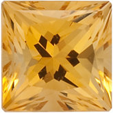 Square SWAROVSKI GEMSTONES™ Genuine Saffron Citrine