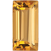 Straight Baguette Genuine Citrine