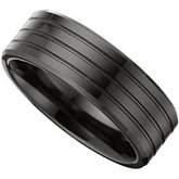 8.0mm Ceramic Couture™ Triple Grooved Band