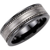 8mm Ceramic Couture™ Band with Dura Tungsten®  Inlay