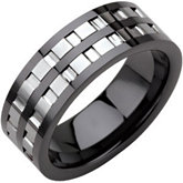 Ceramic Couture™ Band with Dura Tungsten® Inlay