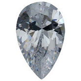 Pear Lab Created White Cubic Zirconia