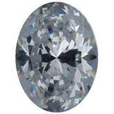 Oval Lab Created White Cubic Zirconia