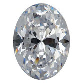 Oval SWAROVSKI GEMS™ Lab Created White Cubic Zirconia